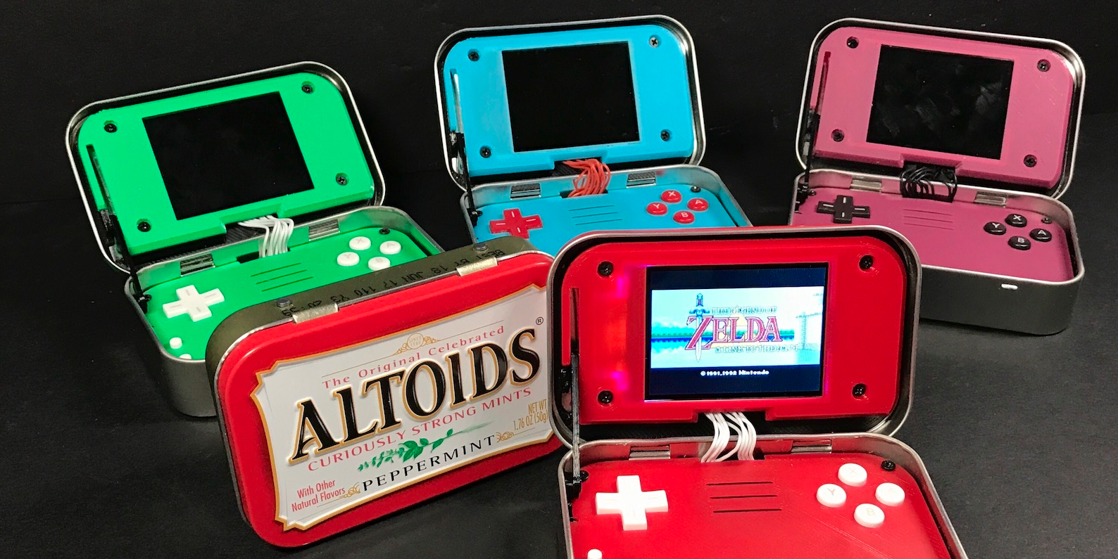 This tiny mint box is actually a gaming console packing a Raspberry Pi