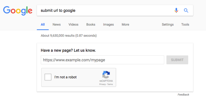 google, url, index, pages, search