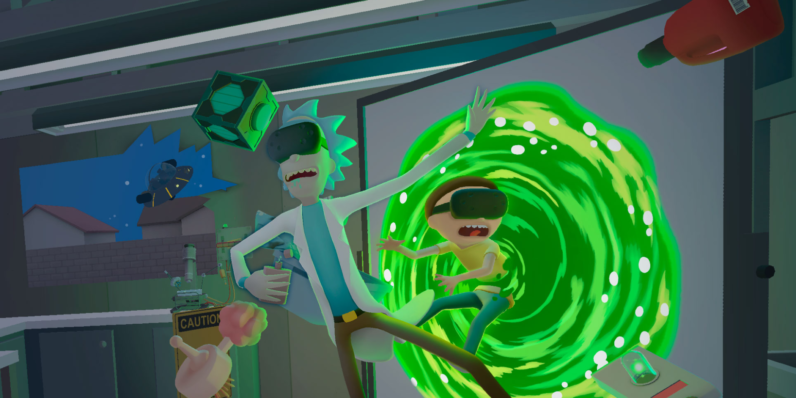 rick and morty, vr, virtual reality, virtual rick-ality
