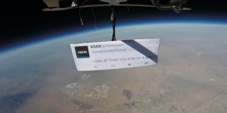 Space agencies mock Trump from the heavens