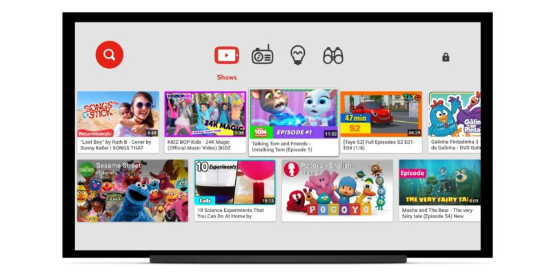 Google brings YouTube Kids app to smart TVs