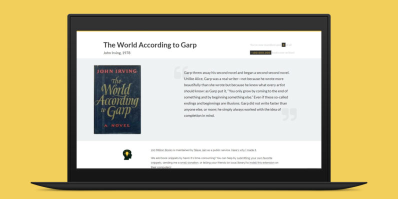 There's finally a Chrome extension for book lovers to discover their next great read
