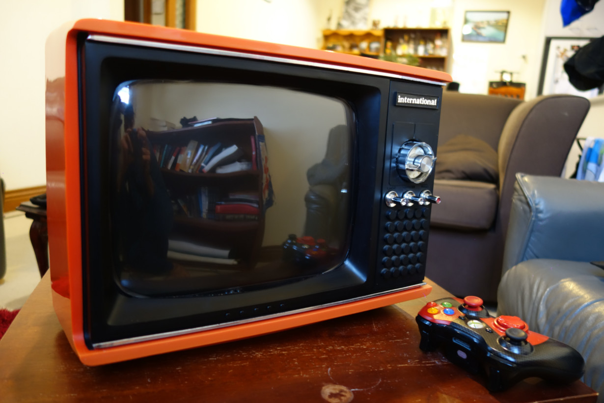 This old portable TV is actually a Raspberry Pi-powered retro gaming