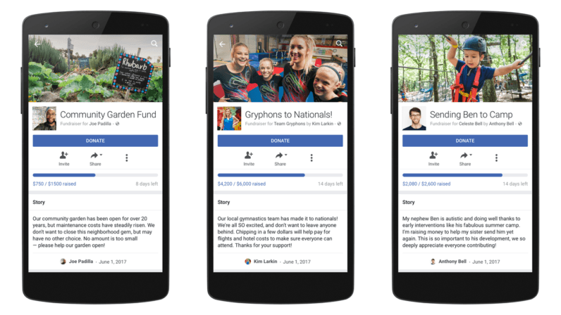 Facebook expands GoFundMe-like fundraiser service to everyone in the US