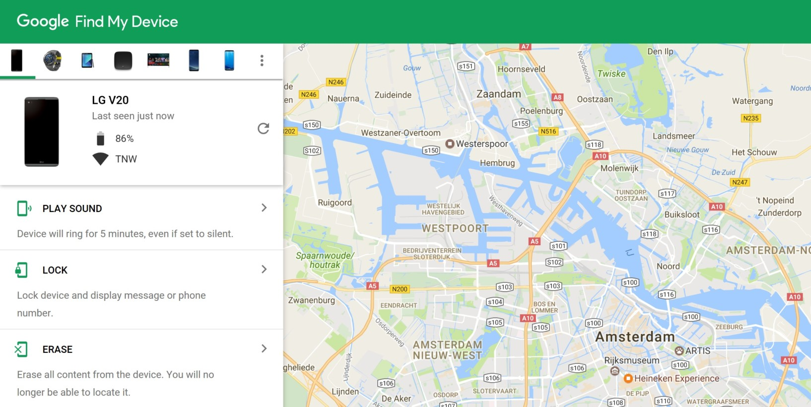 Find Manager android device manager is now find my device