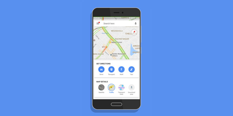 Google Maps gets a custom home screen for easier navigation across India