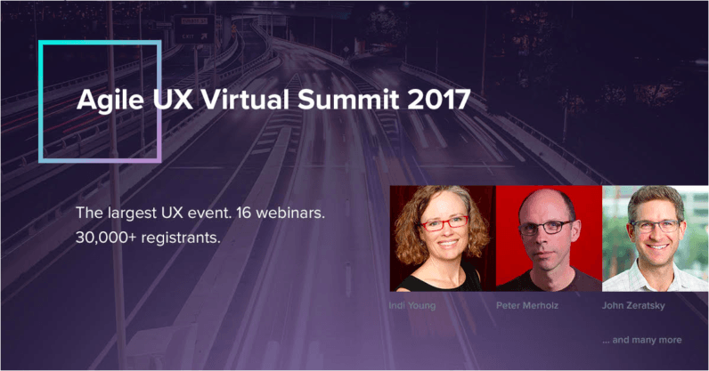Agile UX Virtual Summit 2017: The largest design event is online and free