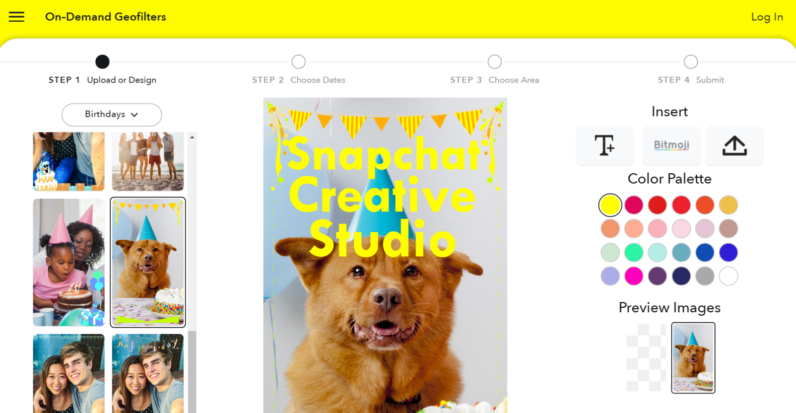 Snapchat launches a design studio for custom geofilters