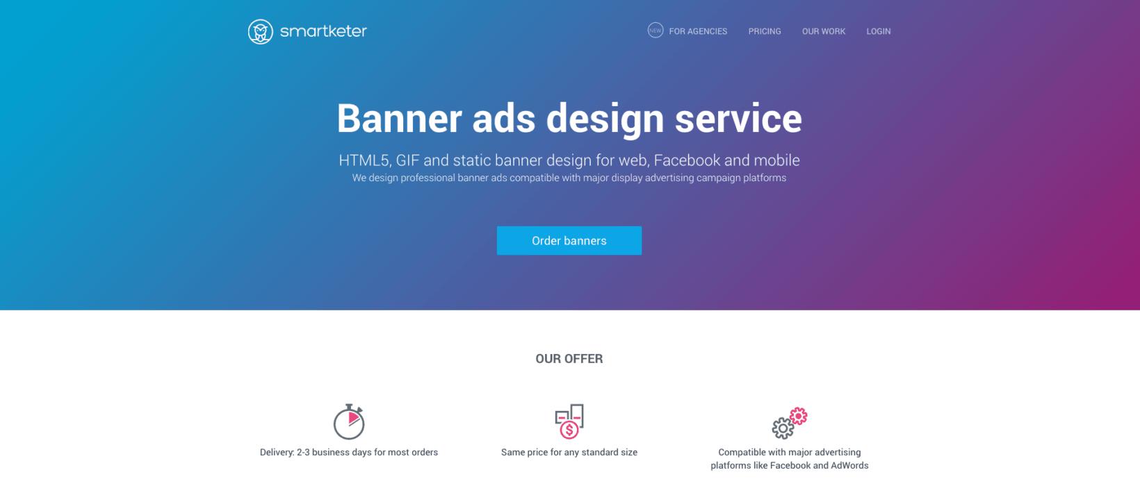 Smartketer banner ads design service