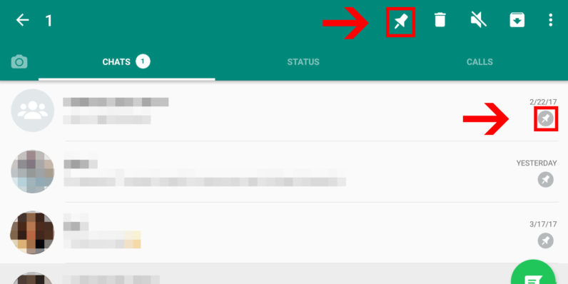 WhatsApp beta lets you pin people to the top of your chat list