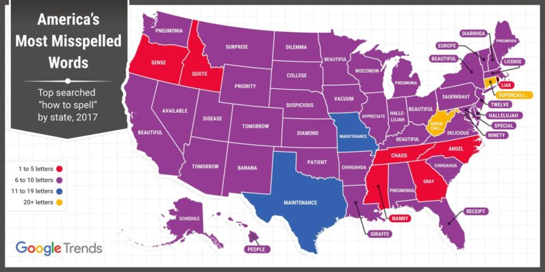 Google data shows Wisconsin residents can't spell Wisconsin