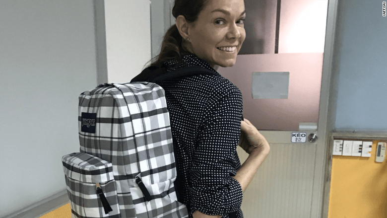 This QR code backpack is next-level social media