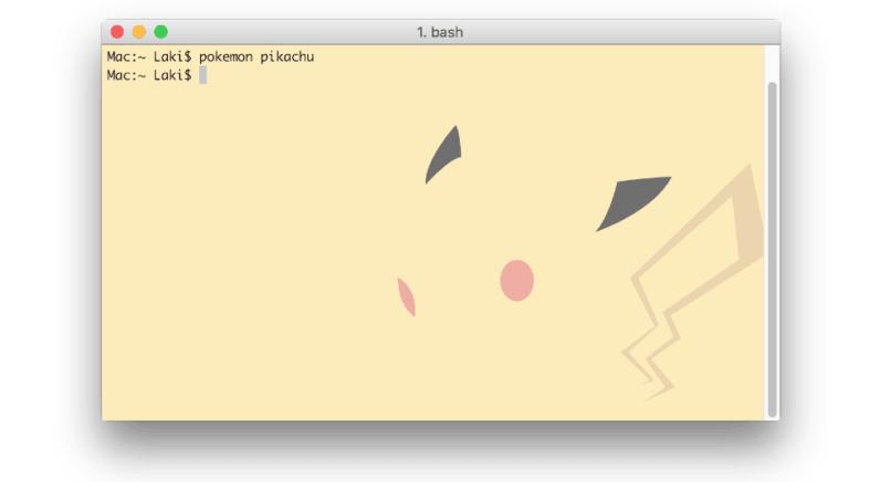 pokemon, macos, mac, terminal, developer
