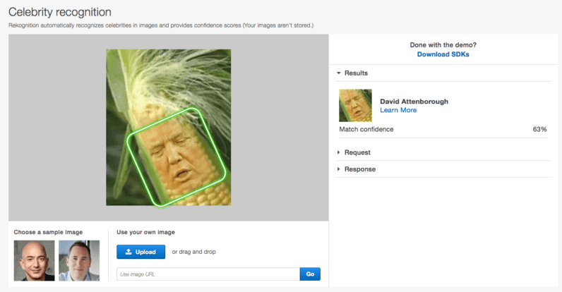 Amazon launches a useless Google reverse image search clone for celebrities