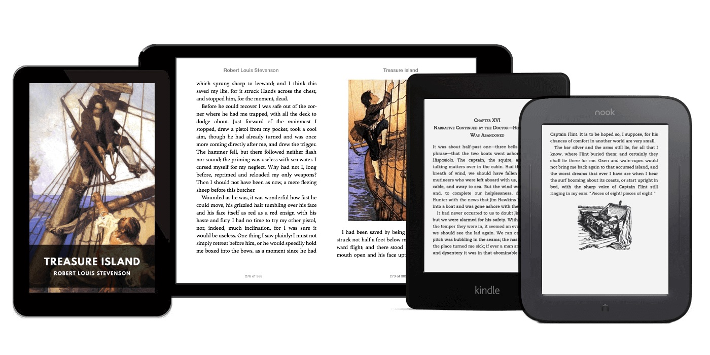 Fill up your ebook reader with beautifully formatted free classics