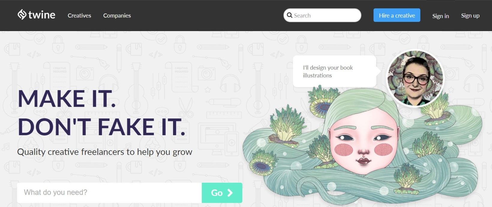Twine is the anti-Fiverr for creative professionals