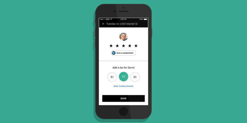 Uber now lets you tip drivers – but will you?