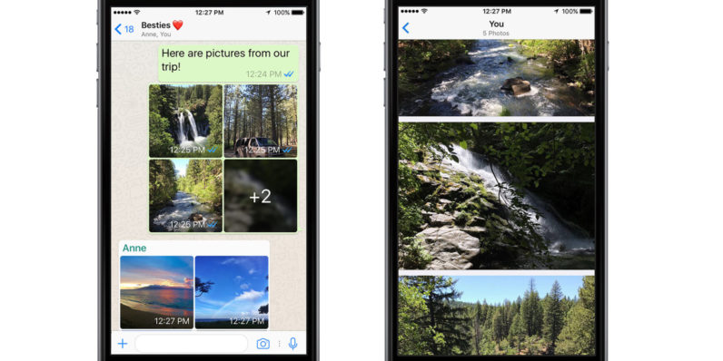WhatsApp adds photo filters and albums on iOS