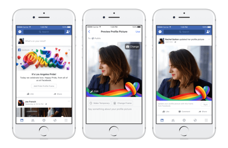 Facebook celebrates Pride month with rainbow reaction, frames, and filters