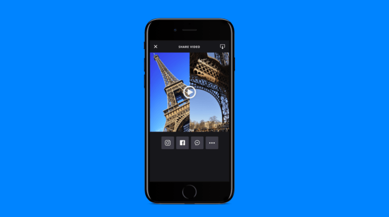 This app lets you record split-screen footage with nearby friends
