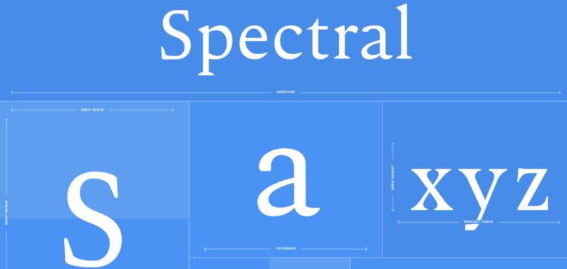 google, font, spectral, responsive