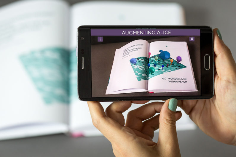Take A First Look At Augmenting Alice An Ar Enhanced Book About The Future