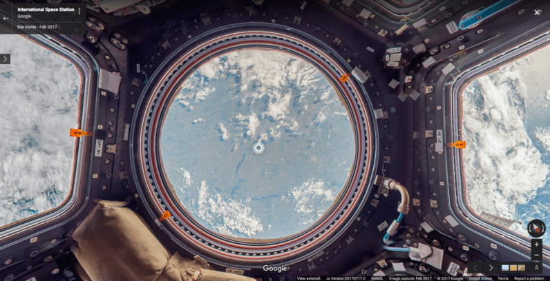 Google street view is now in outer space too for Jobs in outer space
