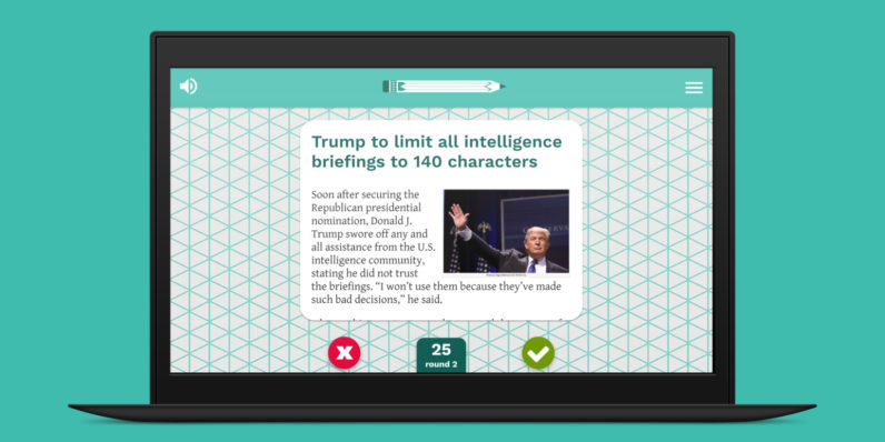 Learn to spot fake news with this Tinder-style browser game