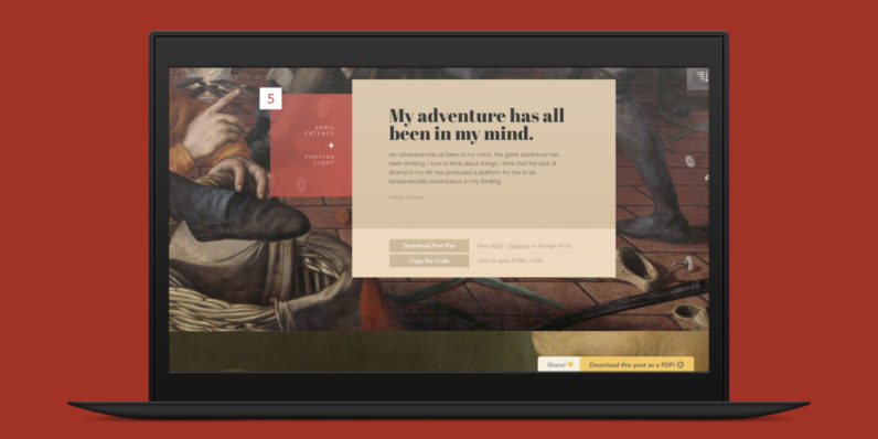 Learn to pair Google web fonts with this classic art-inspired guide