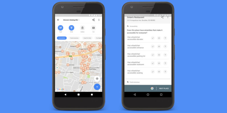 Help improve Google Maps by adding accessibility info for your favorite spots
