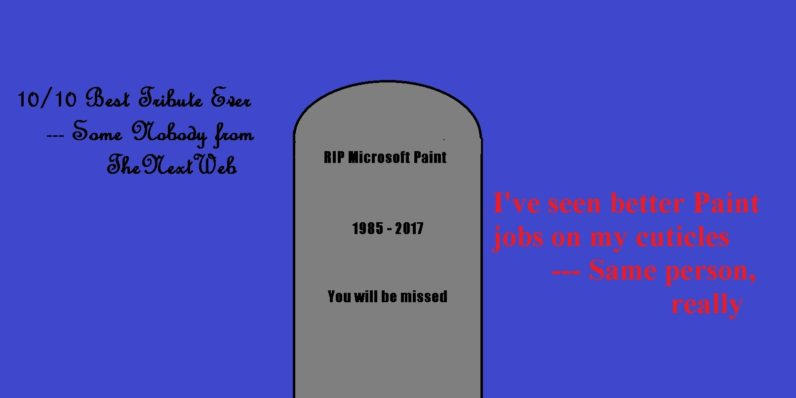 Microsoft Paint memorials are just as bad as you'd expect