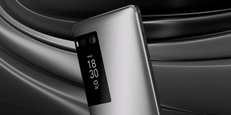 Meizu's new flagship puts a display on the back of your phone