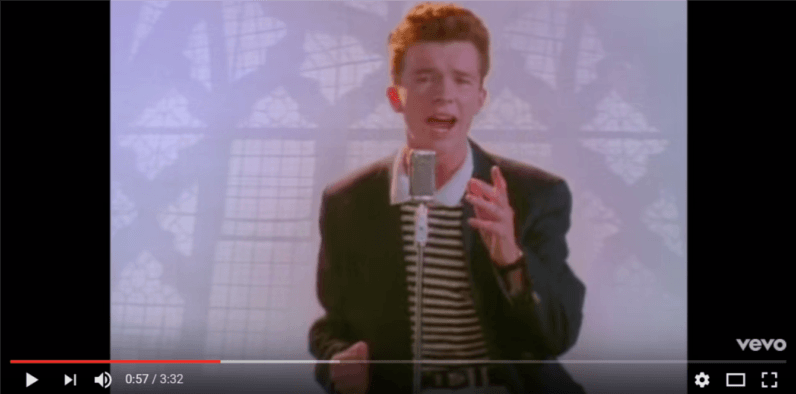 The Rick Roll is now 30 years old. You know what happens next.