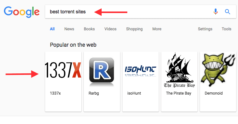 Google no longer shows 'best torrent sites' carousel in Search