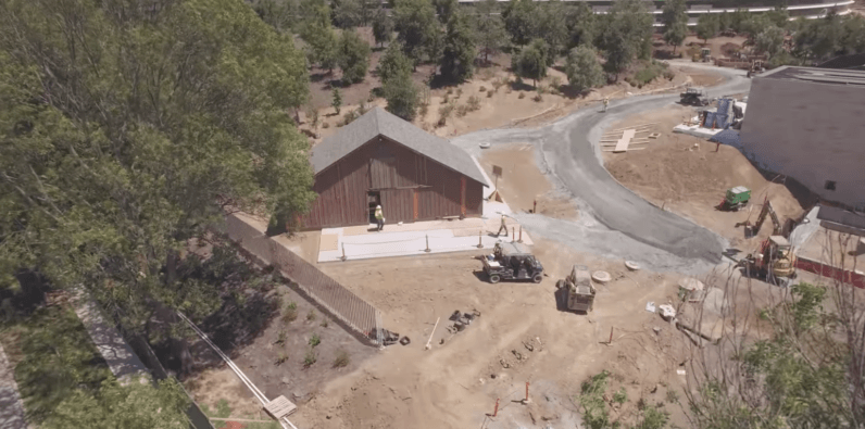 Apple's building an old wooden barn at its 'Spaceship' campus — here's why
