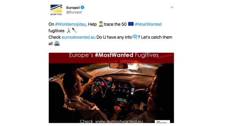europol, emoji, hip, twitter