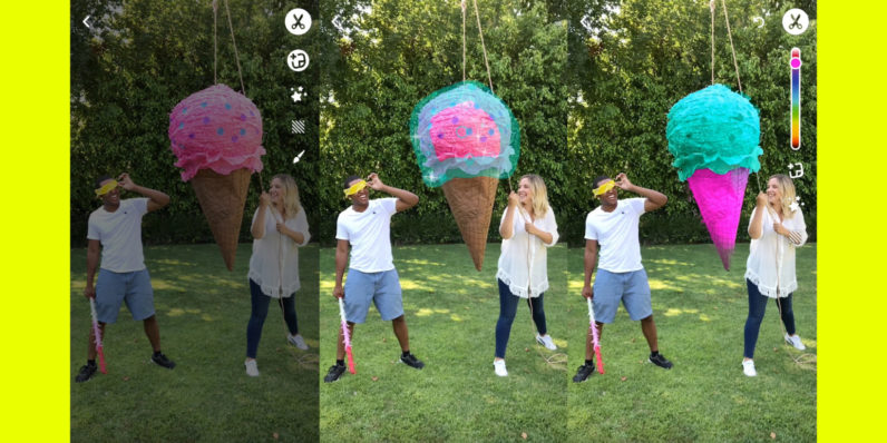 Snapchat's latest update lets you recolor any object