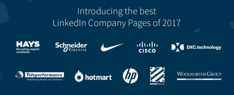 linkedin company pages of 2017