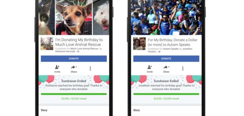 Facebook now lets you collect non-profit donations on your birthday