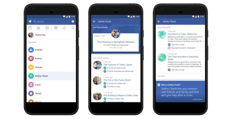 Facebook makes it quicker to check friends are safe when disaster strikes