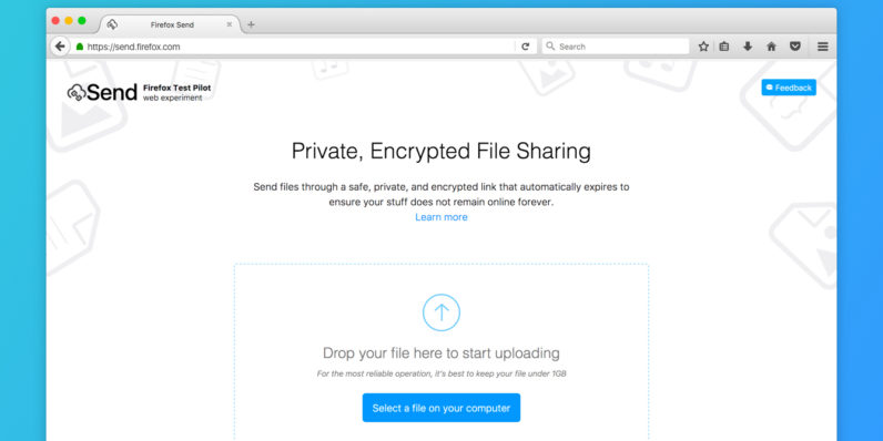 Mozilla's new tool lets you send self-destructing 1GB files for free