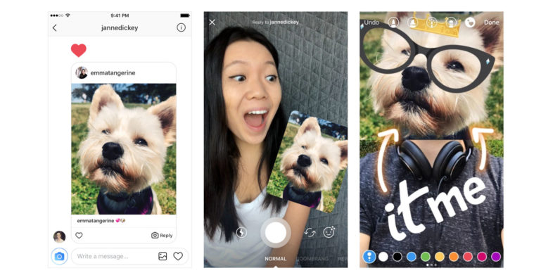 Instagram's new Direct replies are basically threaded messaging for photos