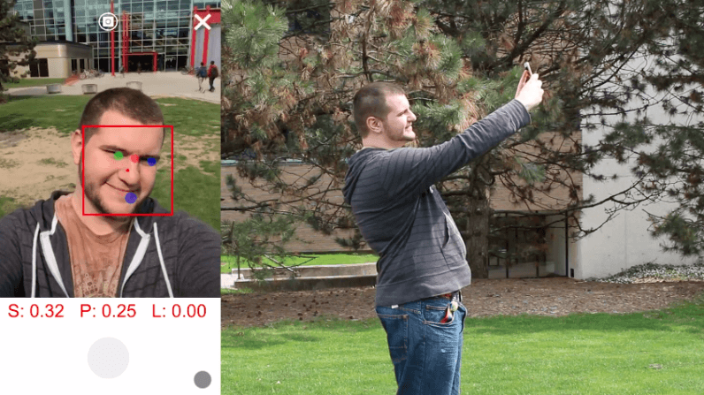 app, selfie, university