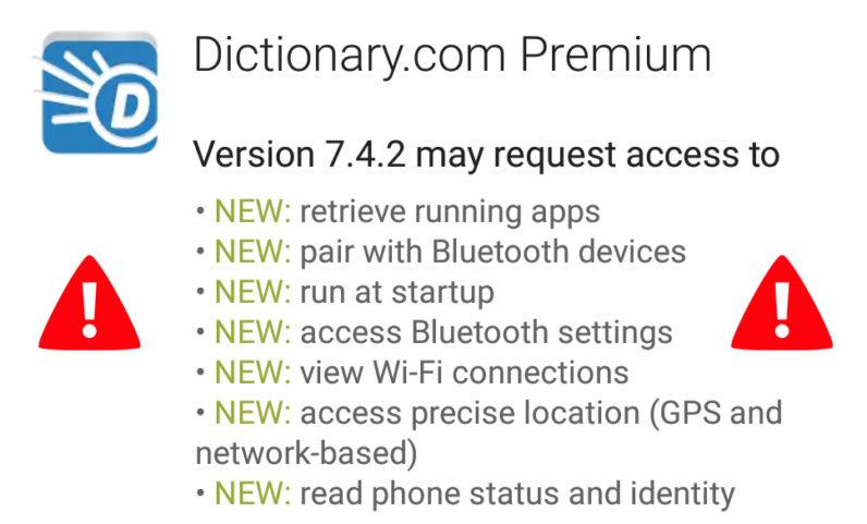 dictionary, dictionary.com, permissions, policy