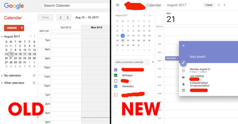 google, calendar, user interface