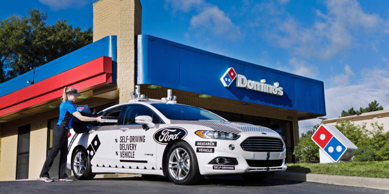 Domino's and Ford team up to offer self-driving pizza delivery