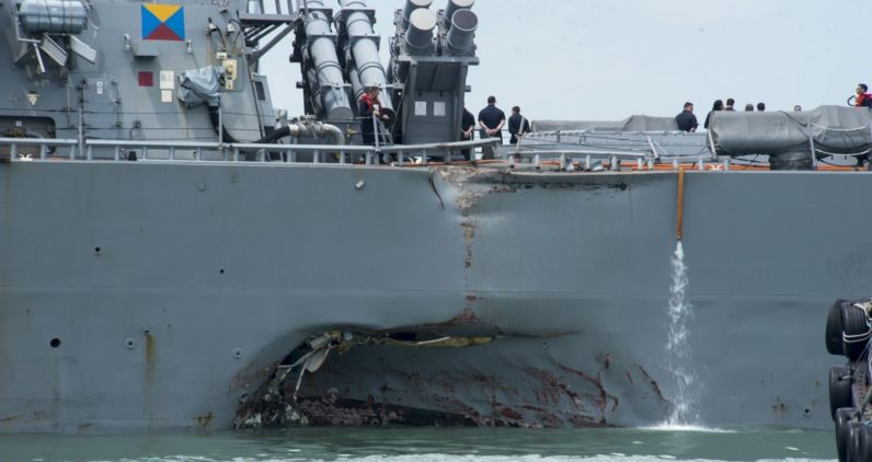 Fourth US Navy collision this year raises suspicion of cyber-attacks