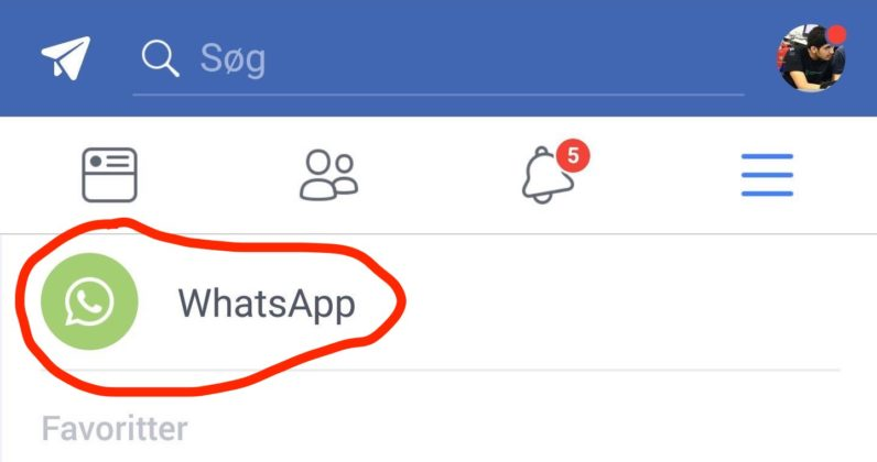 facebook, whatsapp, test