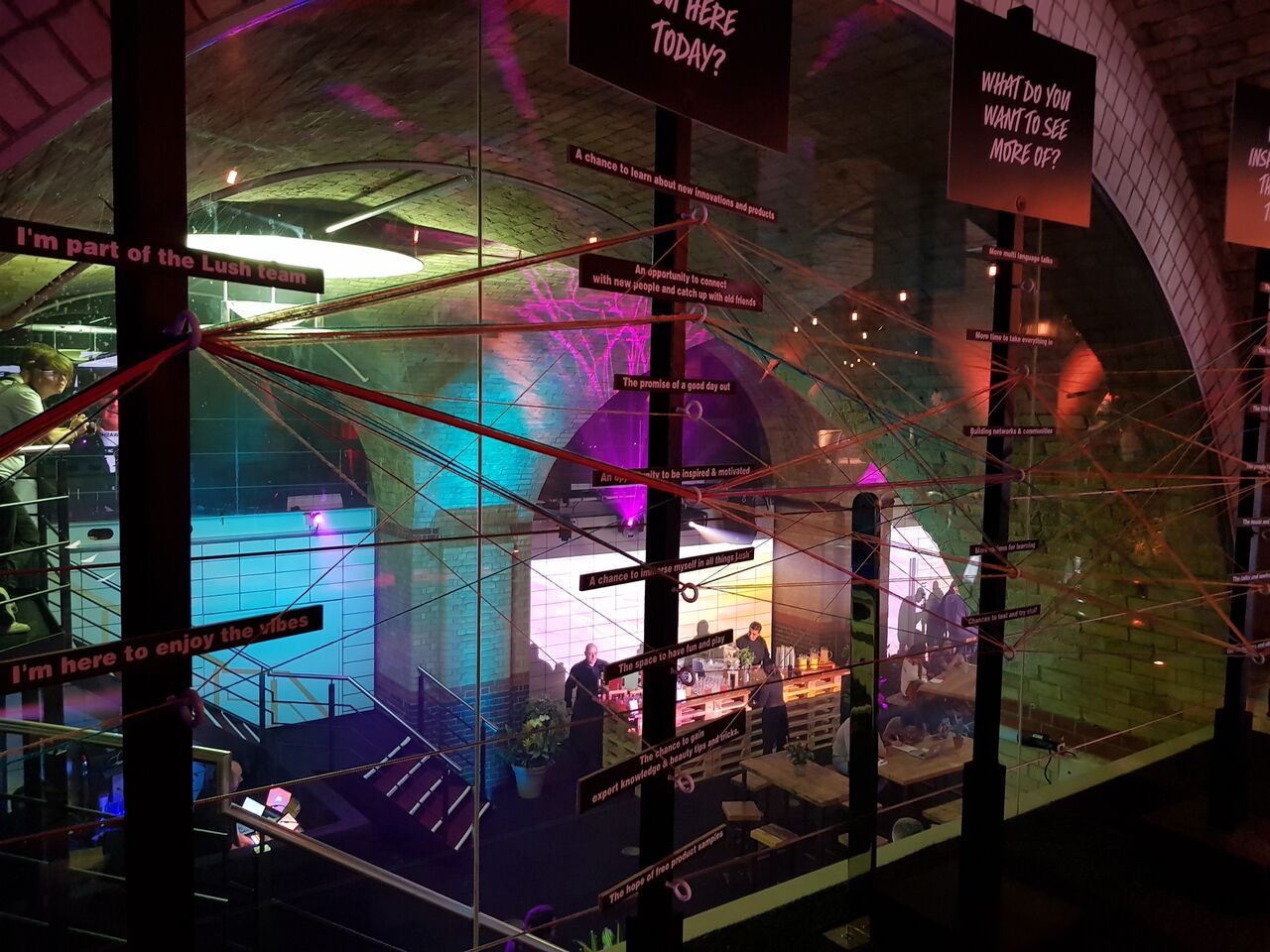 17f03a79936 ... founded on the idea of making everything by hand should be so keen on  technology, but tech was a big feature of Lush's Creative Showcase, ...