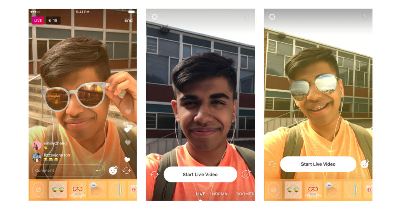 341c43fdb6 Instagram now lets you use filters and masks in live video too